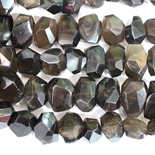 Beads Quartz Nugget Smoky - Faceted Natural Color Smoky Quartz Genuine Nuggets Appx. 15*20mm Real Gemstone Jewelry Making Loose Beads Supplies