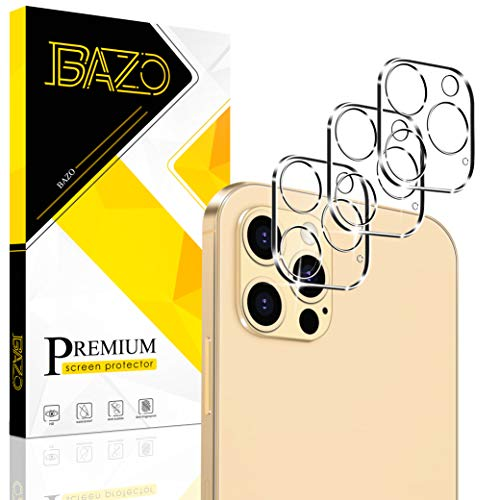 [3 Pack] BAZO Tempered Glass Camera Lens Protector Compatible for iPhone 12 Pro Max 6.7″ 5G, [Case Friendly] HD Clear 9H Hardness Back Camera Protector