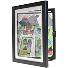 """Child Artwork Frame - Display Cabinet Frames And Stores Your Child's Masterpieces - 8.5"""" x 11"""" (Black)"""