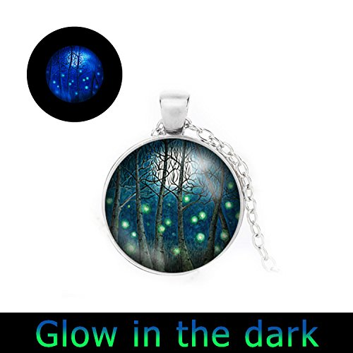 Glowlala glowing Fireflies Pendant necklace product image