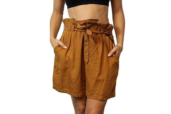 Drykorn Damen Shorts W 29 Cognac Silk Hose Shorts Short