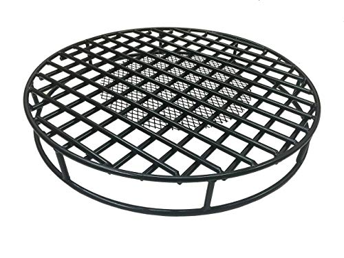 Walden Fire Pit Grate Round 29.5'' Diameter Premium Heavy Duty Steel Grate with Ember Catcher for Outdoor Fire - Steel Square Grates