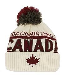 Canada Sport Warm Winter Hat Beanie True North Travel Tuque - Cream White