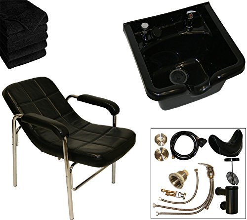 LCL Beauty Shampoo Package: Comfort-Curve Slingback Shampoo Chair & ABS Shampoo Bowl
