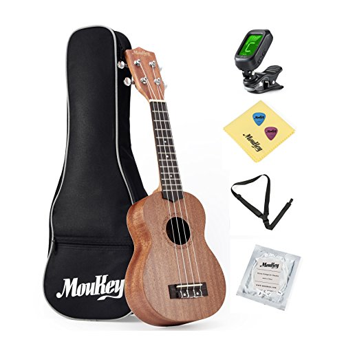 Moukey 21'' Soprano Ukulele Start Set for Beginners Adults and Young Players by Moukey