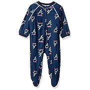 Outerstuff MLB Chicago Cubs Newborn Boys Sleepwear All Over Print Zip Up Coveralls, 3-6 Months, Deep Royal