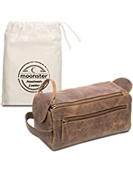 d0ea6e06408 Leather Toiletry Bag For Men - Stylish, Practical and Thicker Than Other  Bags - This