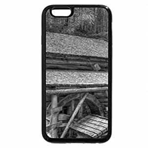 iPhone 6S Case, iPhone 6 Case (Black & White) - wonderful mill inn by a river