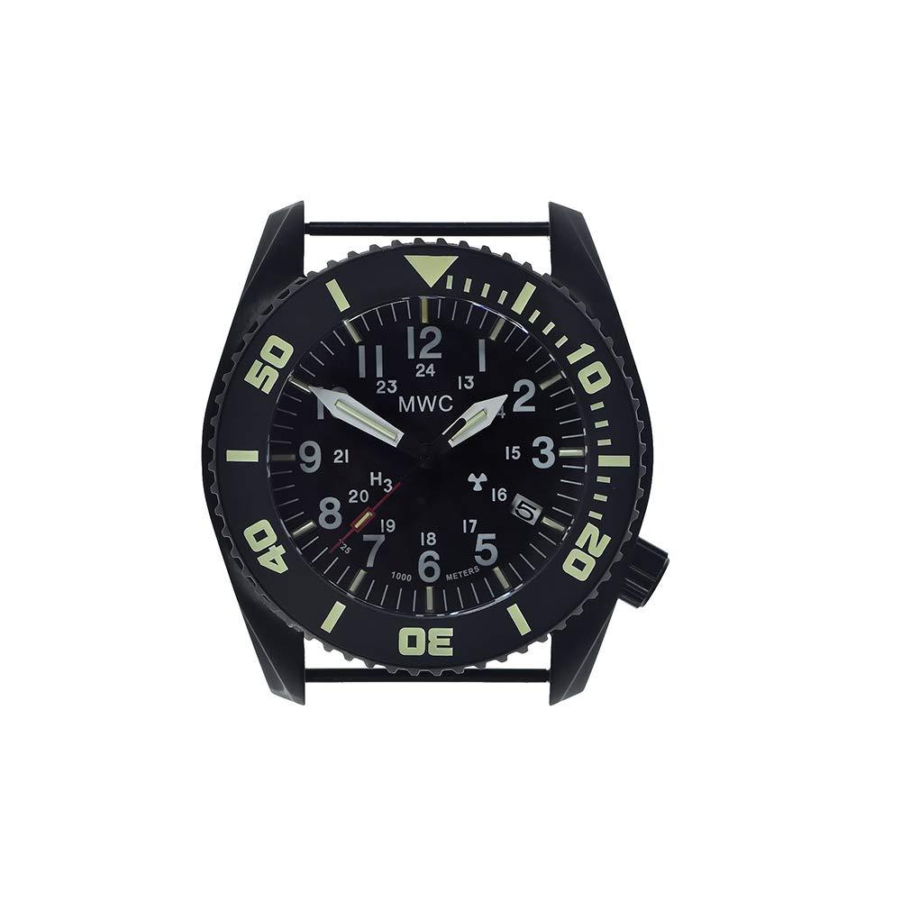 MWC dephtmaster 1000MT Automático Acero PVD Negro Zafiro cerámica tritio Fecha Diver Tejido OTAN Militar Hombre Reloj