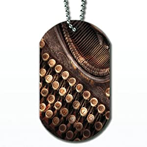 Elements Steampunk Typewriter – Dog Tag Necklace
