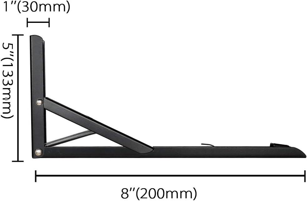 240 * 130mm, Wei/ß 2 St/ück klappbare Regaltr/äger Klappkonsole Schwerlasttr/äger Klappwinkel Klappregal Schwarz//Wei/ß in 4 Gr/ö/ßen