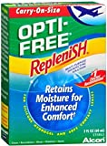 Opti-Free Replenish Multi-Purpose Disinfecting Solution, Carry On Size, 2-Fluid Ounce Bottles (Pack of 3)