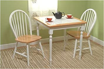 Amazon.com - Dining Set - Table and Two Chairs - Tile Top Table ...