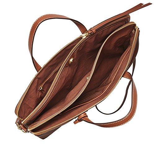 Fossil Emma - Bolsos maletín Mujer Marrón (Brown)