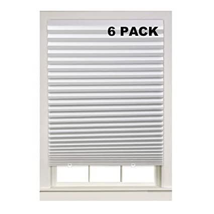 36 x 72 window 200 series turquoize light filtering temporary pleat paper shades white quick fix easy to install amazoncom shades