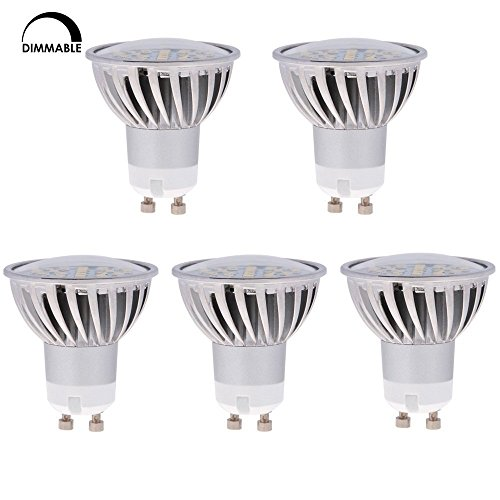 Halogen Wide Flood Beam - HERO-LED GU10-DIM-24T-WW Dimmable MR16 GU10 LED 120V Halogen Replacement Bulb, 120 Degree Wide Beam Floodlight, 4.8W, 50W Equivalent, 5-Pack, Warm White 3000K, 5-Pack
