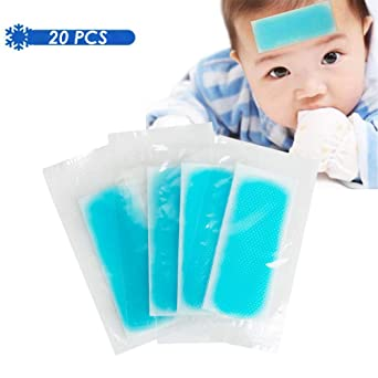 Amazon Com Fever Cooling Fever Patch Cooling Forehead Strips Relieve Headache Migraine Headache Soothing Gel Pads Adult Children S Instant Pain Relief For Toothache Pain Drowsiness Sunstroke Pack Of 20 Pcs Industrial Scientific