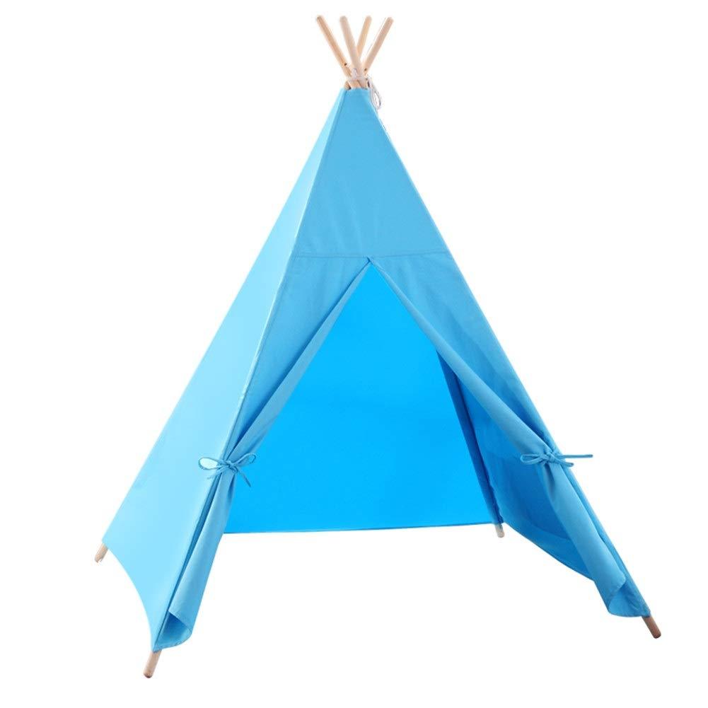 魅力の 床のマット、冒険のための完全なウィグワムが付いている子供のティーピー演劇のテント、子供はこのPlayhouseを愛します B07QHWDJGS (色 : : 青) 青) 青 B07QHWDJGS, ぐりーんぐりーん:9f6a9a76 --- a0267596.xsph.ru