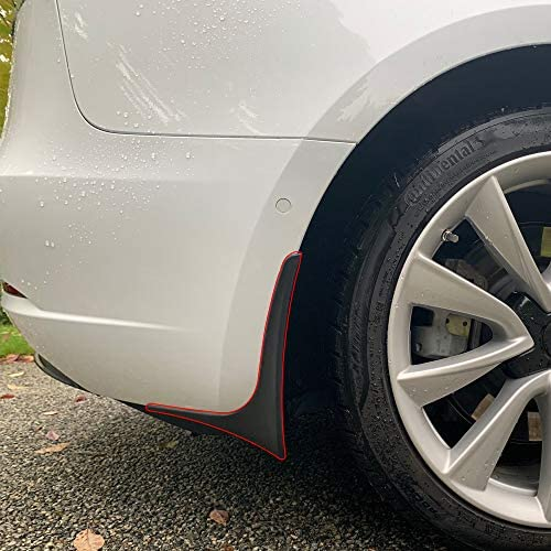 Tesla Model 3 Mud Flaps that extend to the vehicle's body