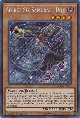 Secret Six Samurai - Doji - SPWA-EN004 - Secret Rare - 1st Edition - Spirit Warriors (1st Edition)