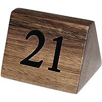 Conjunto de 10 números de mesa de madera