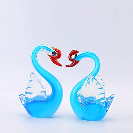 Figuritas Decorativas Estatuas para jardín Wedding Products Crystal Decorations Colored Glass Craftwork Decorations Handmade Decoration Red Head Flying Goose: Amazon.es: Hogar