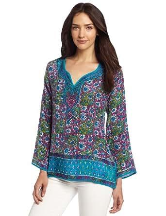 Tolani Women's Rita Top, Turquoise, Medium