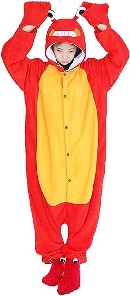 dressfan Unisex Animal Cosplay Traje Cangrejo Pijamas Adultos ...