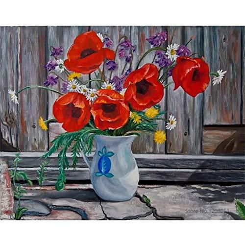KYKDY Gerahmte DIY DIY DIY Malen Nach Zahlen Blaume Obst Acrylgemälde Moderne Bild Home Decor Für Wohnzimmer 40x50 cm RA3366, Kein Rahmen 40x50 cm, RA3316 B07PWHCVG6   2019  dd7407