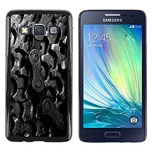 YiPhone /// Prima de resorte delgada de la cubierta del caso de Shell Armor - Sprockets Bike Chain - Samsung Galaxy A3 SM-A300
