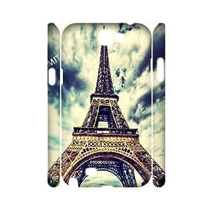 Custom 3D Phone Case YU-TH28698 for Samsung Galaxy Note 2 N7100 w/ Eiffel Tower by Yu-TiHu(R)