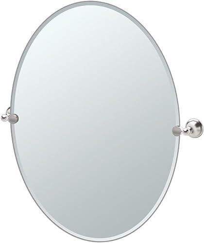 Gatco 4599LG Laurel Ave. Large Oval Mirror, Satin Nickel