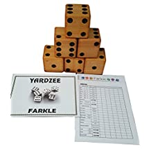YARDZEE FARKLE Huge Big Giant Outdoor Yard Dice Game (Bucket Label Only)