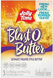 product image for Jolly Time Blast O Butter Microwave Popcorn (Pack of 2)