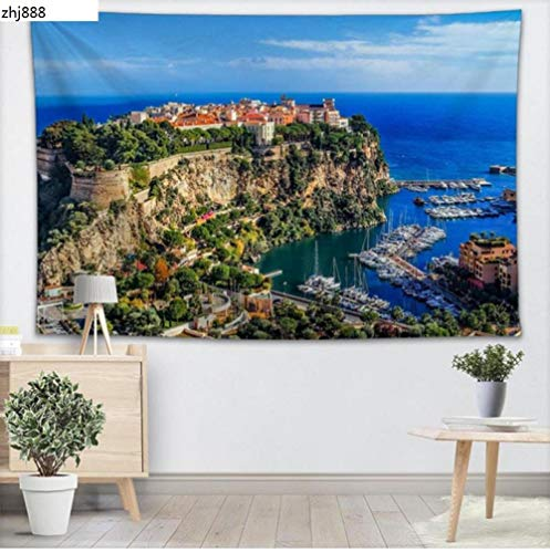 zhj888 Monaco Wall Tapestry Home Decor Forest Tapestry Bedroom 200X150Cm