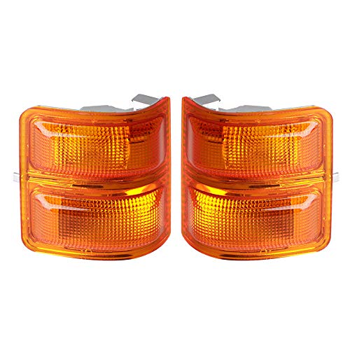 HERCOO Amber Mirror Marker Lights Lens Compatible with 2008-2016 Ford F250 F350 F450 Super Duty Turn Signal Aftermarket Replacement, Qty: 2