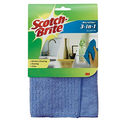 Scotch-Brite Microfiber 3-in-1 Cloth, 11.8 X 11.8 Inch