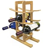 Sorbus Bamboo Wine Rack – Holds 12 Bottles of Your Favorite Wine – Sleek and Chic Looking Wine Rack (Natural) For Sale