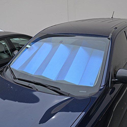 motor trend front windshield sun shade black jumbo accordion folding auto sunshade for car. Black Bedroom Furniture Sets. Home Design Ideas