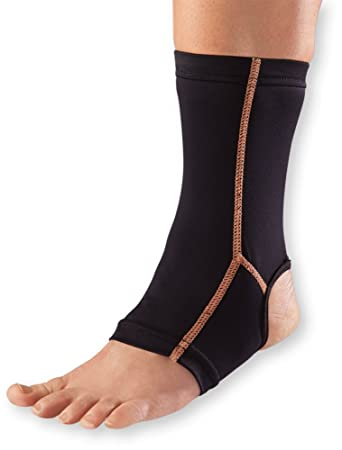 cfa4580b4c Image Unavailable. Image not available for. Color: WellWear Copper Ankle  Sleeve ...