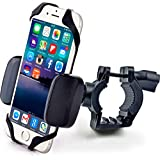 Bike & Motorcycle Phone Mount - for iPhone Xs (Xr, X, 8, Plus/Max), Samsung Galaxy s10 or Any Cell Phone - Universal Handlebar Holder for ATV, Bicycle and Motorbike. +100 to Safeness & Comfort