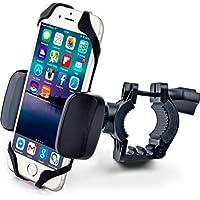 Bike & Motocicleta–Soporte para teléfono iPhone 7(5, 6, 6s Plus), Samsung Galaxy o cualquier teléfono celular–Soporte de ATV, montaña, City & de carretera bicicleta manubrio universal.