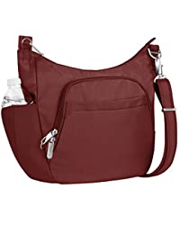 Anti-theft Classic Crossbody Bucket Bag, Wine