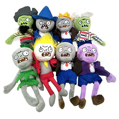 RAFGL 8Pcs Plants Vs Zombies Plush Toys 20Cm PVZ Gargantuar Hats Pirate Duck Zombie Plush Stuffed Toys Doll Soft Toy Gifts for Kids Must Have Baby Items BFF Gifts The Favourite Anime by RAFGL