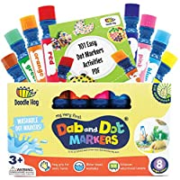 Washable 8 Colors Dot Markers Pack Set   Fun Art Supplies for Kids and Preschoolers   Includes 200+ Fun Downloadable Coloring Sheets   Preschool Arts and Craft (8-Pack)