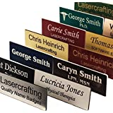 Business Name Tag / ID Badge Personalized - Laser Engraved, Magnetic backing - CUSTOMIZE