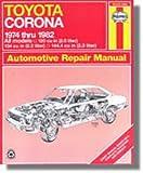 H92045 Haynes Toyota Corona 1974-1982 Auto Repair Manual