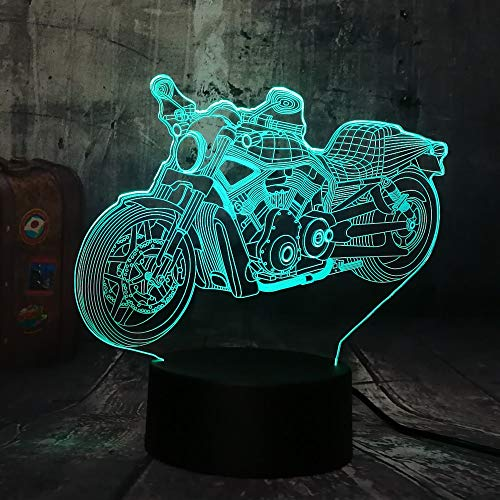 dinosaurier lampe Weihnachtsgeschenke Night Light New Cool Motorcycle Motorcycle Boy Boy Toys 3D Led Night Light Usb…