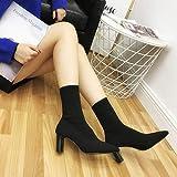 Liuxc Zapatos de mujer Botas elásticas de otoño Calcetines Puntiagudos Botas Botines de Mujer otoño e Invierno Botas…