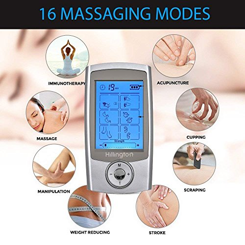 Hillington Tens Machine Rechargeable - Digital Therapy Full Body...